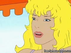 Cartoon, Anime, Cartoon, Hentai, Lesbian