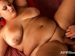 Fat lady takes a gigolo to her place and pays him well