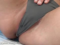 Horny redhead with shaved cunt masturbates until climax tube porn video