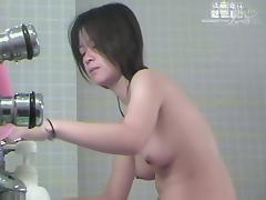 Charming Asian tits on the shower room voyeur camera dvd 03005