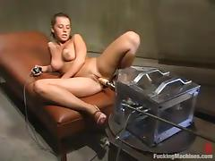 Horny Penny Flame lies on a couch and gets toyed deep tube porn video