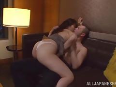 Amazing sex scene with super horny Japanese couple