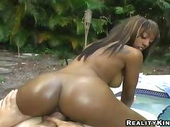 Appetizing Cali Has Interracial Sex Outdoors In A POV Video tube porn video