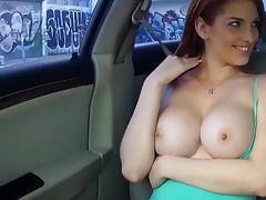 Car, Blowjob, Car, Couple, Pornstar, Redhead