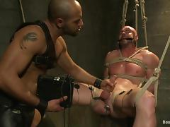 Leo Forte tortures Mitch Vaughn and fucks his butt from behind