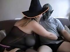 busty girl - halloween costume tube porn video
