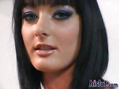 Gorgeous brunette Crystal enjoys a kinky double date tube porn video