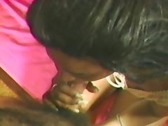 Black skank gets her snatch licked in 69 position and fucked hard