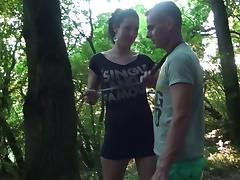 Married pair oral pleasure and sex games on the desolate path