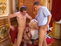Aged Patient Receives two Cumshots