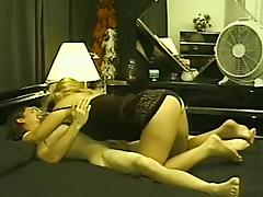 Curvy Tattooed Blonde Has Riding Her Dudes Big Dick