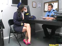 Tasty Brandy Aniston Wearing A Sexy Uniform Gets Fucked By A Security Guard porn tube video