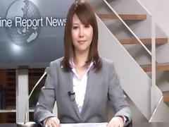 Real Japanese news reader two porn tube video