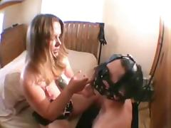 Cuckold Cum Eating with 2 Slaves