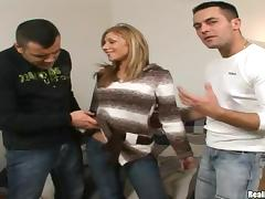 Big Cock, Big Cock, Blonde, Group, Jeans, MMF