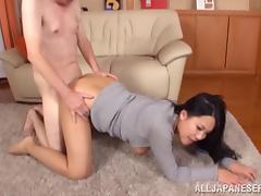 Creepy horny grandpa fucks Asian hottie