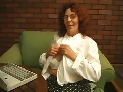 Grandma ginette masturbed with toy