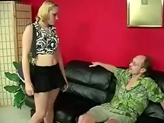 Nasty Man In Glasses Spanked That Cute Babes Hot Ass