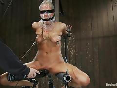 Rain DeGrey gets her ass smashed with a toy in terrific BDSM clip