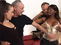 British, British, Foursome, Interracial, 4some