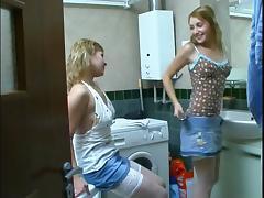 Bathing, Amateur, Bath, Bathing, Bathroom, Russian
