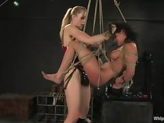 Poor Charley Chase gets dominated by Annette Schwarz porn tube video
