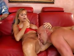 Smoking hot blondie is going to stun with a huge cock in her twat