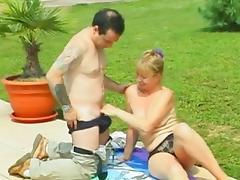 Garden granny and younger man 04 tube porn video