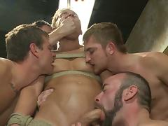 Bound, Blowjob, Bound, Gay, Penis, Sucking