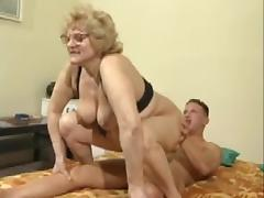 Plump granny receives nailed