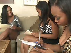 Black, Black, Drilled, Ebony, Handjob, Lesbian