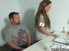 Steamy Victoria Valentino Gets Her Shaved Pussy Fucked Dressed Up As A Maid porn tube video