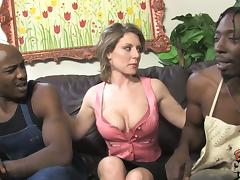 MILF Velicity Von Gets Threesome Sex With Two Black Guys porn tube video