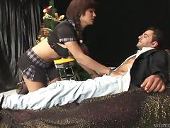 Hardcore oral sex with a sizzling shemale Luana