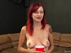Slim redhead Phoenix Askani gets her coochie fucked from behind