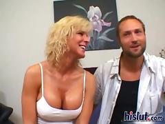 Blonde milf TJ participates in a rear end collision