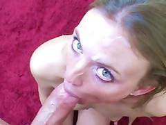 Blue Eyes, Blonde, Blowjob, Couple, Deepthroat, Facial