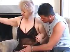 Granny Seduces Youthful Lad