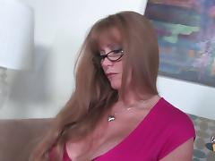 Busty white cougar getting a good hard interracial fucking and then a big messy cumshot