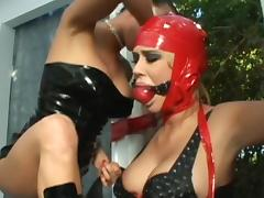 Black fucker and mistress are humiliating this brunette