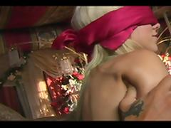 Blindfolded, Blindfolded, Blonde, Blowjob, Voyeur, Sucking