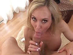 MILF Brandi Love shows off her blowjob skills