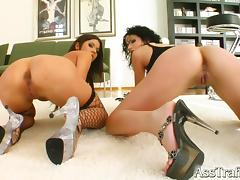 Boots, Boots, Fishnet, Foursome, Group, Heels