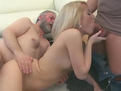 Young blonde Nona suck this nice small cock