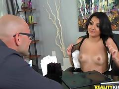 Zarreena Baz gets her pussy fucked from behind by a bald dude