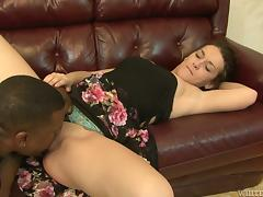 Black stud Hooks makes hot chick Jassi Capri suck and ride his BBC