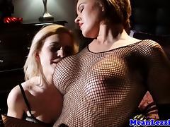 Young lesbian lezdom fetish babes kiss