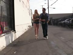Superb AJ Applegate sucks big black cock in a gloryhole clip