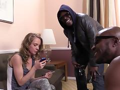 Sweet Beckie Lynn Expresses Her Sex Opinion With Two Black Guys