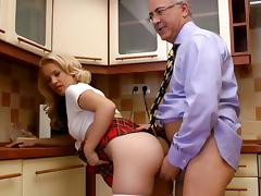 Sexy glam blonde Chanel C fuck with old cock